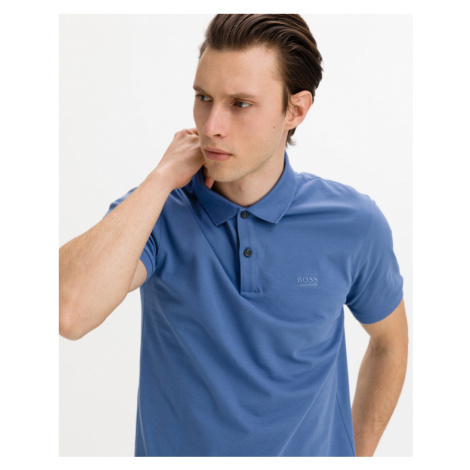 BOSS Pallas Polo T-Shirt Blau Hugo Boss