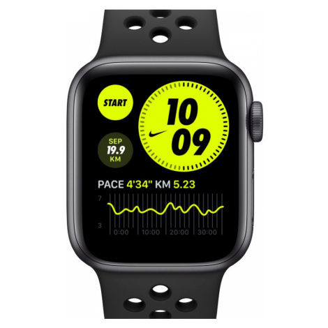 Apple Watch Nike Series 6 (GPS) mit Nike Sportarmband 40-mm-Aluminiumgehäuse in Space Grau - Gra