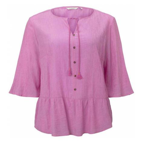 TOM TAILOR MY TRUE ME Damen Curvy-Sommerliche Tunika mit Quasten-Details, rosa