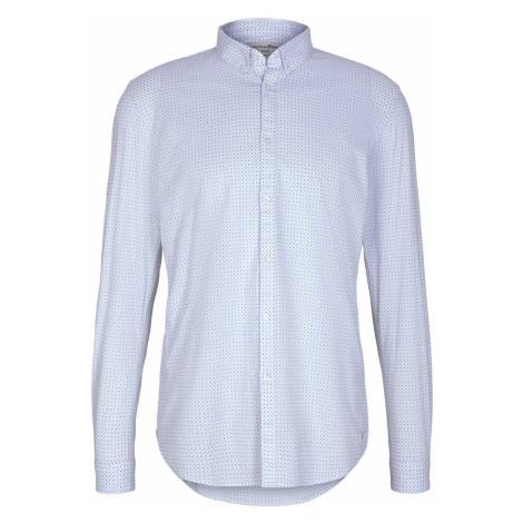 TOM TAILOR DENIM Herren gemustertes Hemd, weiß