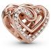 Pandora 789270C01 Rose Charm Funkelndes Verschlungenes Herz