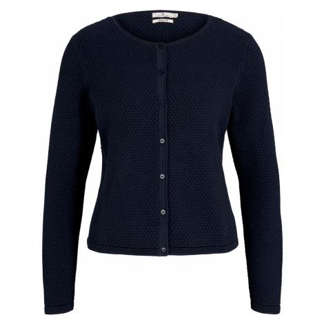 TOM TAILOR Damen cardigan structured mit Bio-Baumwolle , blau