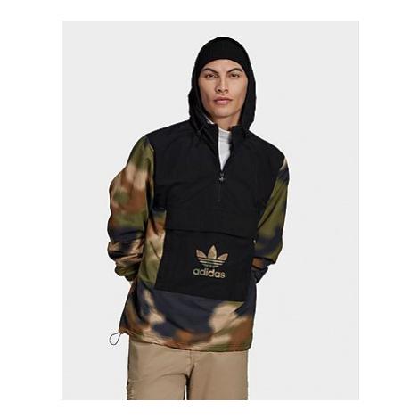 Adidas Originals Camo Windbreaker - Hemp / Multicolor / Black - Herren, Hemp / Multicolor / Blac