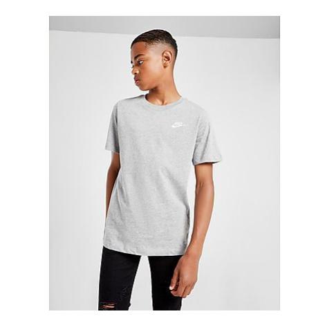Nike Small Logo T-Shirt Kinder - Dark Grey Heather/White - Kinder, Dark Grey Heather/White