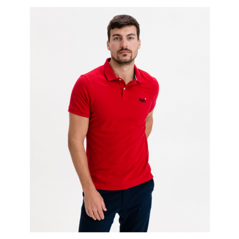 SuperDry Classic Polo T-Shirt Rot