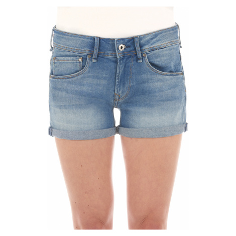 Pepe Jeans Damen Jeans Short Siouxie Blau - Blue Denim