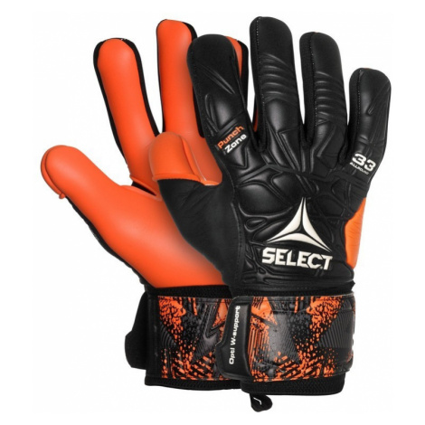 Torwart Handschuhe Select GK handschuhe 33 Allround Negative Cut schwarz Orange