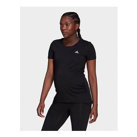 Adidas Essentials Cotton T-Shirt - Umstandsmode - Black / White - Damen, Black / White