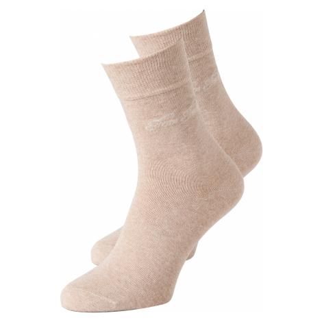 TOM TAILOR Damen Socken im Doppelpack, beige, unifarben