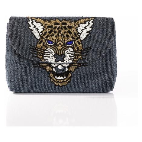 Leopard Clutch Blue