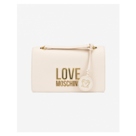 Love Moschino Umhängetasche Weiß Beige