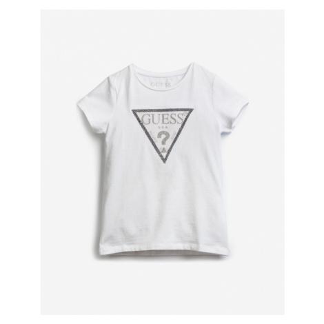 Guess Sequins Front Logo Kinder  T‑Shirt Weiß