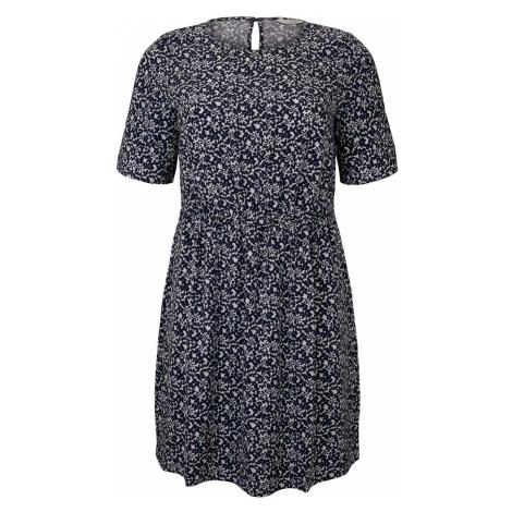 TOM TAILOR MY TRUE ME Damen Fließendes Kleid mit Blumenmuster, blau