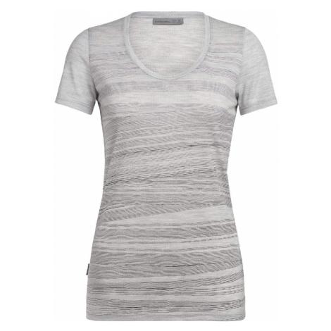 Icebreaker Tech Lite SS Scoop women Artist Tee Damen T-Shirt grau Icebreaker Merino