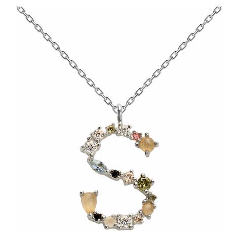 P D Paola CO02-114-U Damen-Halskette Buchstabe S Silber