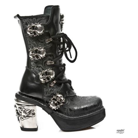 High Heels Frauen - VINTAGE FLOWER NEGRO - NEW ROCK - M.8366-S1 37