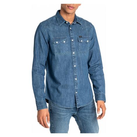 Lee Herren Freizeithemd Jeanshemd Western Shirt Rider - Regular Fit