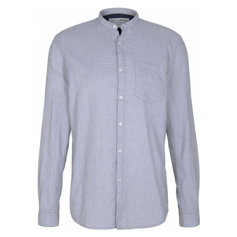 TOM TAILOR DENIM Herren Hemd mit Waffelstruktur, blau