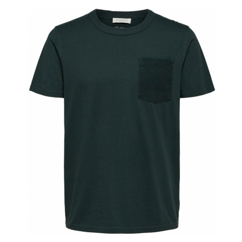SELECTED Regular Fit T-shirt Herren Grün