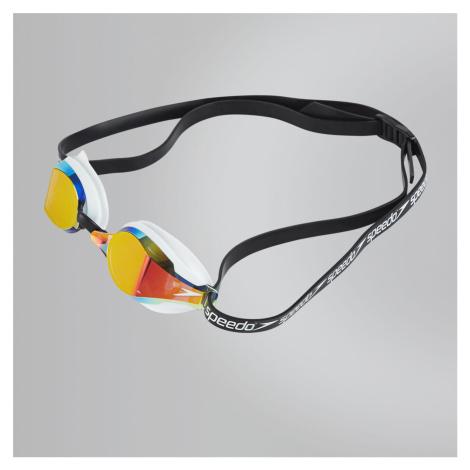 Speedo Fastskin Speedsocket 2 Mirror Schwimmbrille, Weiss/Spiegel