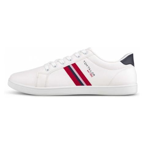 TOM TAILOR Herren Sneaker mit seitlichen Streifen, weiß