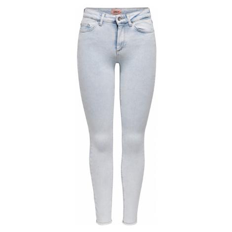 Only Damen Jeans Onlblush Life Mid Sk Raw Ak Rea298 - Skinny Fit - Blau Light Blue