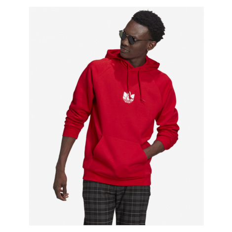 adidas Originals Loungewear Adicolor 3D Trefoil Sweatshirt Rot