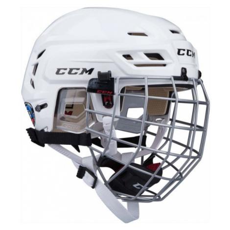 CCM TACKS 110 COMBO SR weiß - Hockey Helm