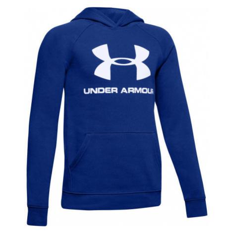 Under Armour RIVAL LOGO HOODY blau - Sweatshirt für Jungen