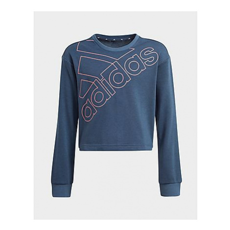 Adidas Essentials Logo Sweatshirt - Crew Navy / Hazy Rose, Crew Navy / Hazy Rose