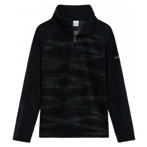 Columbia GLACIAL II FLEEC PRINT HALF ZIP schwarz - Mädchen Sweatshirt