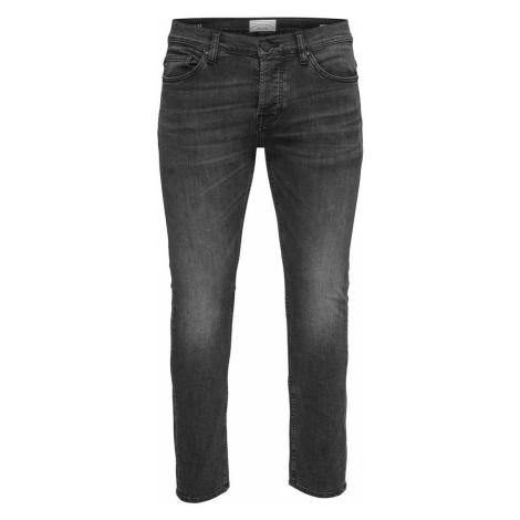 ONLY & SONS Onsfarbgewaschene Slim Fit Jeans Herren Schwarz