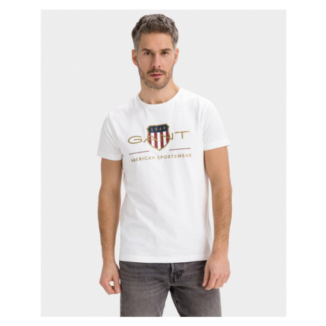 Gant D.2 Archive Shield T-Shirt Weiß