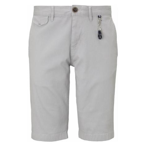 TOM TAILOR Herren Chino Shorts mit Schlüsselanhänger, grau