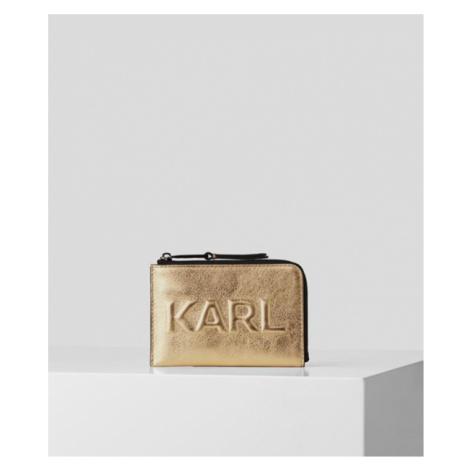 K/KARL SEVEN KARTENETUI MIT PRÄGUNG UND REIẞVERSCHLUSS Karl Lagerfeld