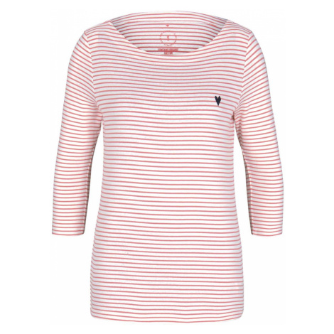 TOM TAILOR Damen Gestreiftes Shirt, rosa