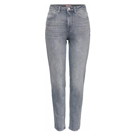 Only Damen Jeans Onlveneda Life Mom Jeans Bb Rea718 - Straight Fit - Grau - Medium Grey