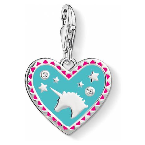 Thomas Sabo 1470-041-17 Charm-Anhänger Herz mit Einhorn