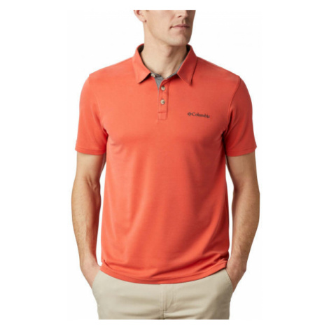 Columbia NELSON POINT POLO rot - Herren Poloshirt