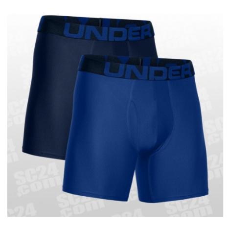 Under Armour Tech Boxerjock 2-Pack 6 Inch blau Größe LG