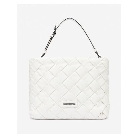 Karl Lagerfeld Kushion Braid Tote Handtasche Weiß