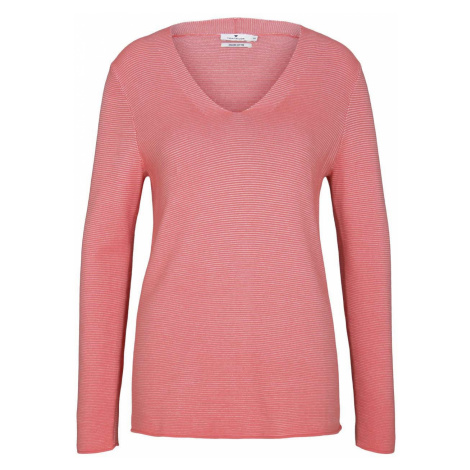 TOM TAILOR Damen Strukturierter Pullover mit Bio-Baumwolle , rosa