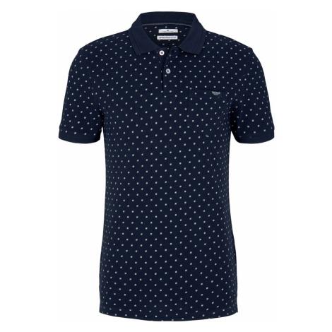 TOM TAILOR Herren gemustertes Poloshirt mit Bio-Baumwolle , blau