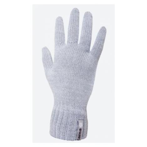 Gestrickte Merino Handschuhe Kama R102 109 light grey