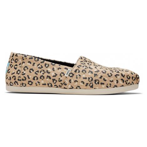 TOMS Damen Espadrilles ALPARGATA 10016214 Natural Textured Cheetah Beige