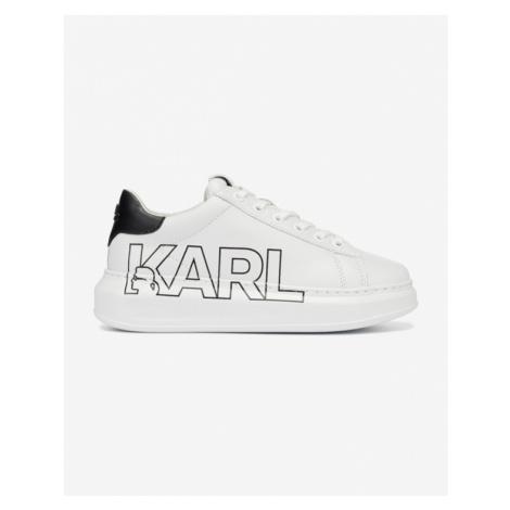 Karl Lagerfeld Kapri Karl Outline Logo Tennisschuhe Weiß