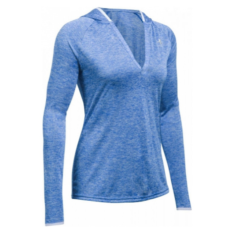 Under Armour TECH LS HOODY - TWIST blau - Damen Hoodie