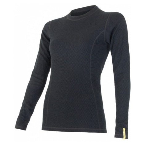 Damen T-Shirt Sensor MERINO DOUBLE FACE black 15100029