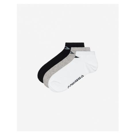 Converse 3 Paar Socken Schwarz Weiß Grau