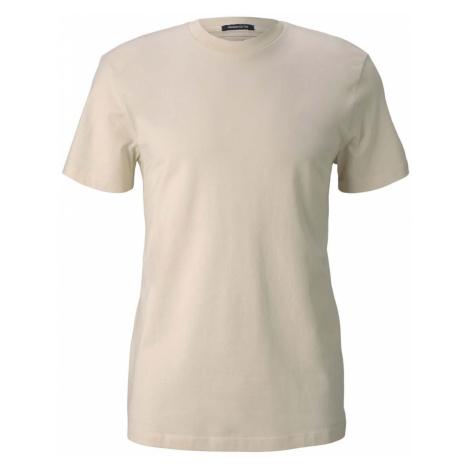 TOM TAILOR DENIM Herren Basic T-Shirt aus Baumwolle, beige